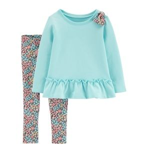 Carter's blue and floral outfit